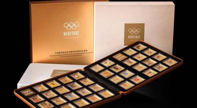 历届夏季奥运会会徽和吉祥物纪念金(银)章